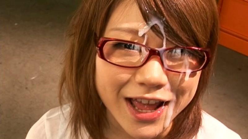 メガネ顔射