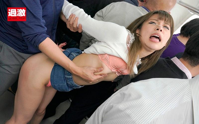 痴漢された女達のエロ画像